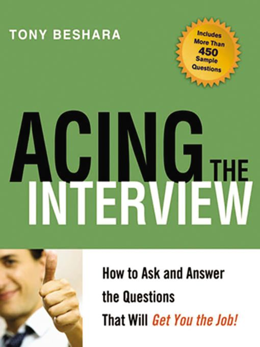 Title details for Acing the Interview by Tony Beshara - Wait list