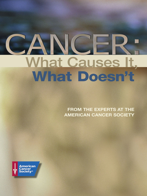 Title details for Cancer by American Cancer Society - Available