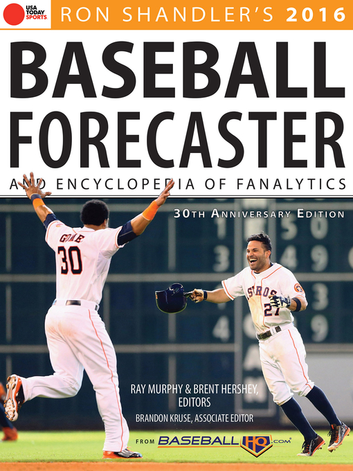 Title details for 2016 Baseball Forecaster by Ron Shandler - Available