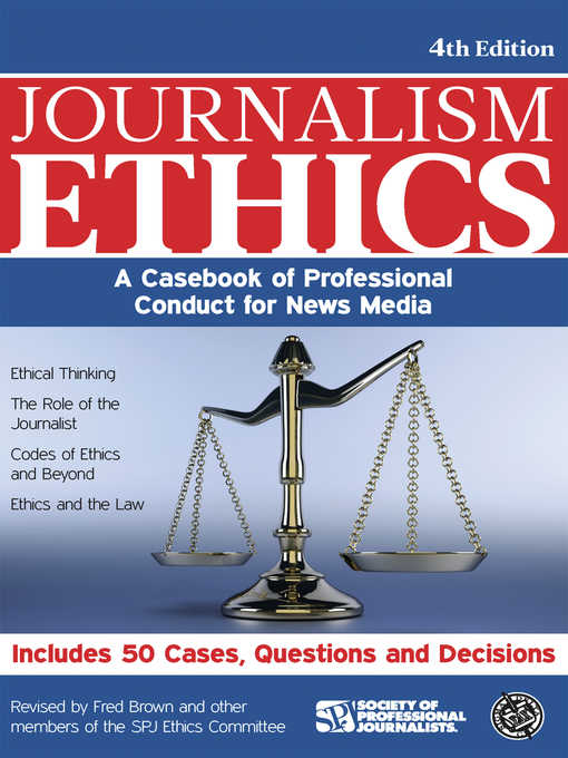 ethics of journalism essay Law & ethics careers mobile social media american journalism review represent the growing trend of personal essays in journalism.