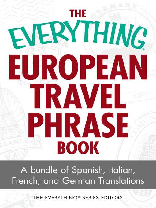 Title details for The Everything European Travel Phrase Book by The Everything Series Editors - Wait list
