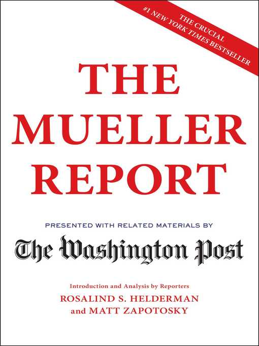 Title details for The Mueller Report by The Washington Post - Available