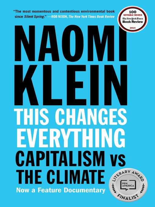 Title details for This Changes Everything by Naomi Klein - Wait list