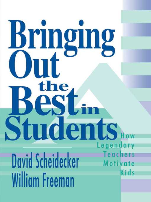 Cover of Bringing Out the Best in Students