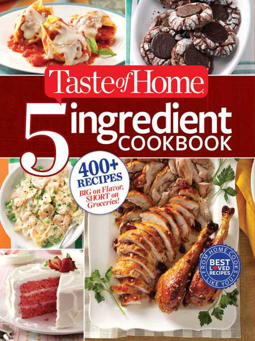 Title details for Taste of Home 5-Ingredient Cookbook by Editors at Taste of Home - Wait list