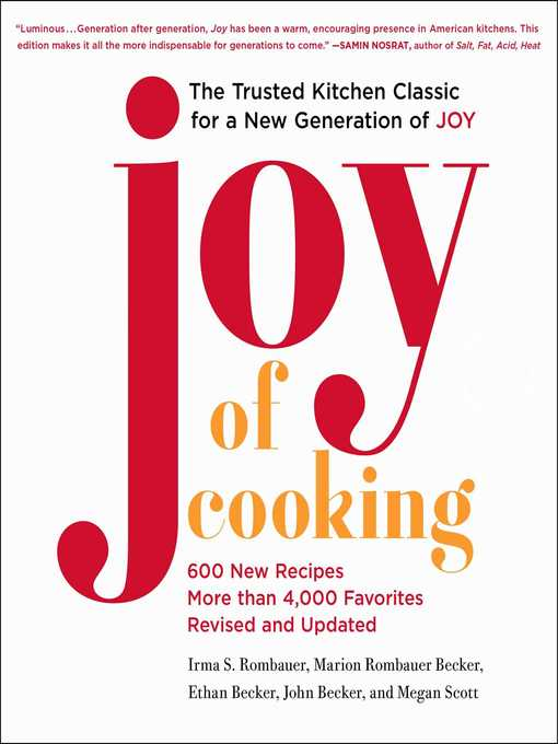 Joy of Cooking 2019 Edition Fully Revised and Updated