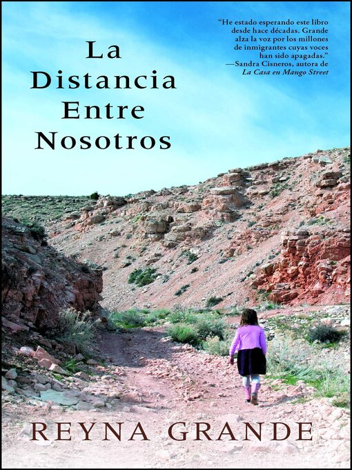 Title details for La distancia entre nosotros by Reyna Grande - Wait list