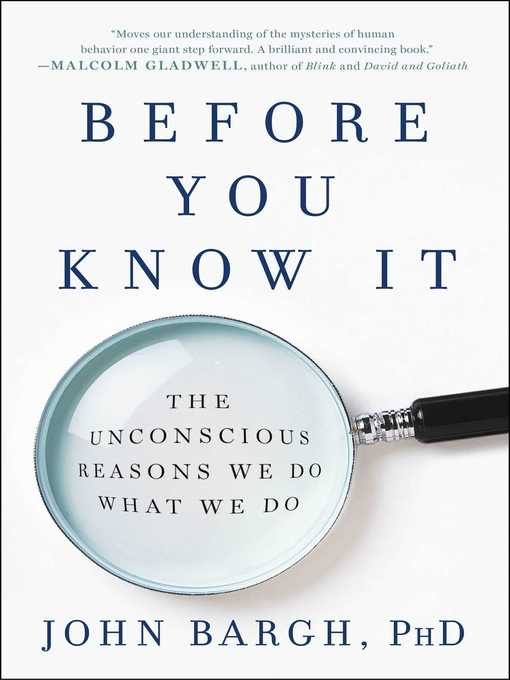 Title details for Before You Know It by John Bargh - Available