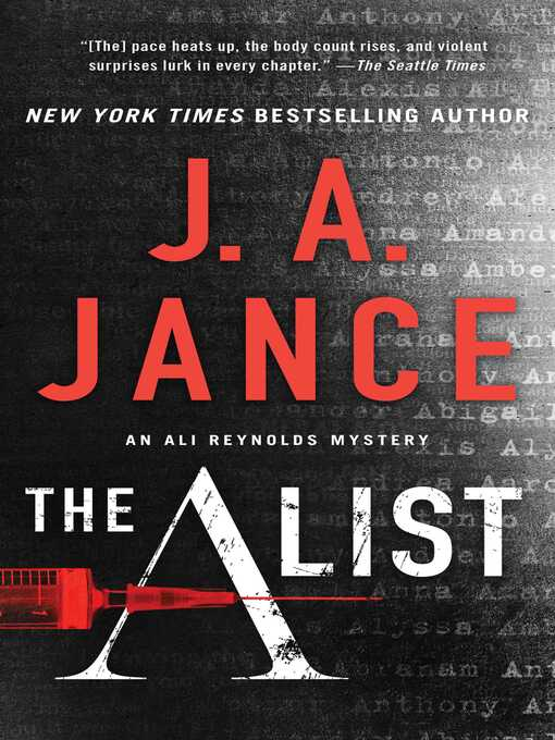 Title details for The a List by J.A. Jance - Wait list