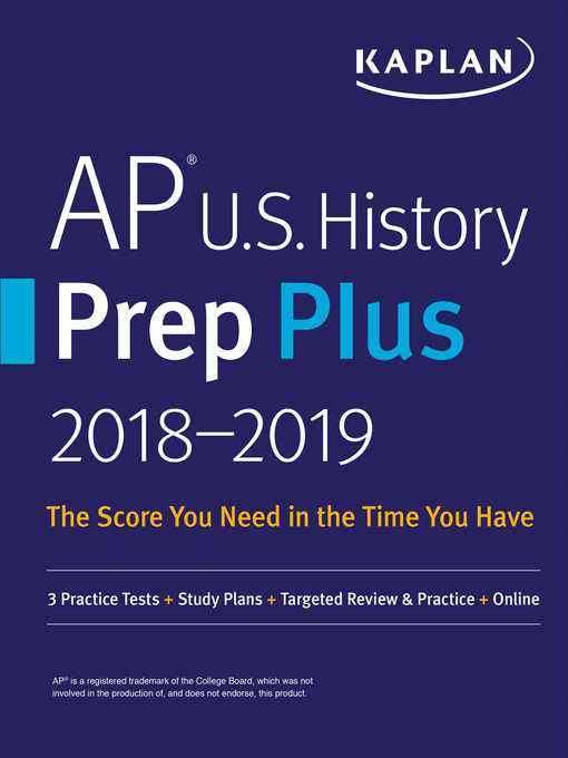 Cover of AP U.S. History Prep Plus 2018-2019