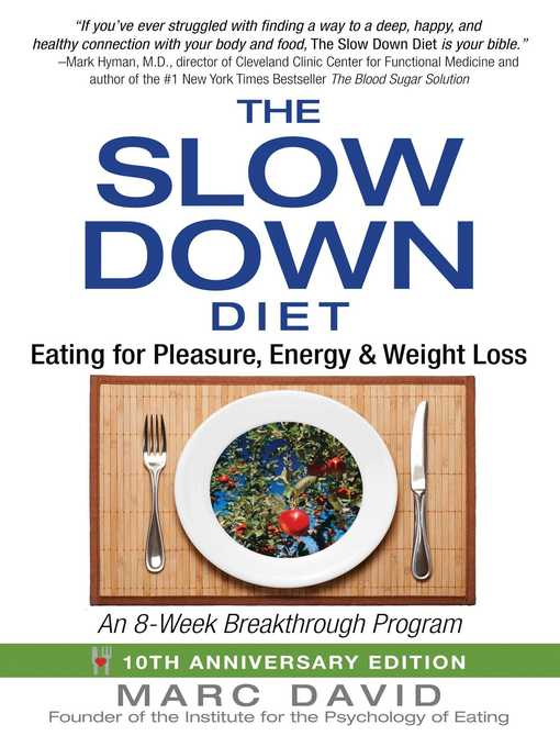 Title details for The Slow Down Diet by Marc David - Available