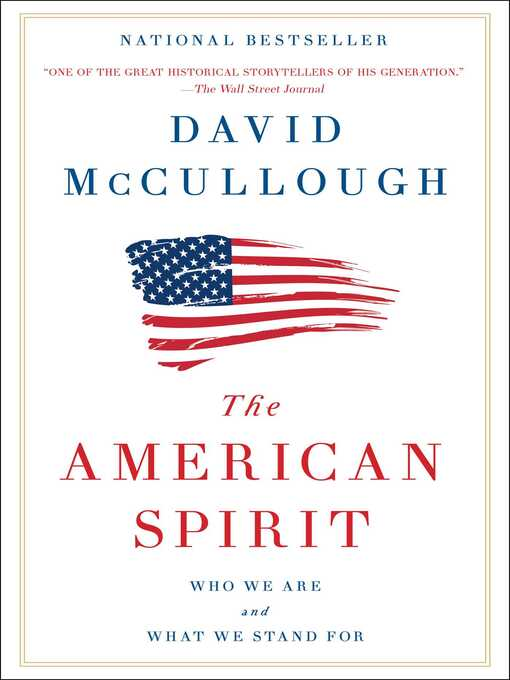 Title details for The American Spirit by David McCullough - Wait list