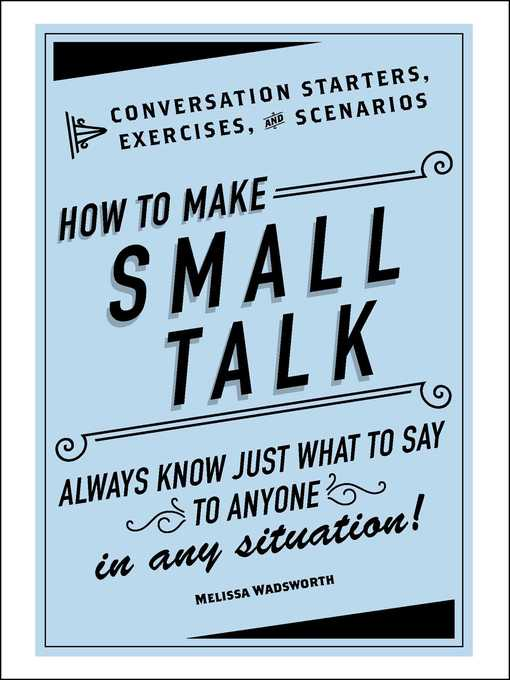 Title details for How to Make Small Talk by Melissa Wadsworth - Wait list
