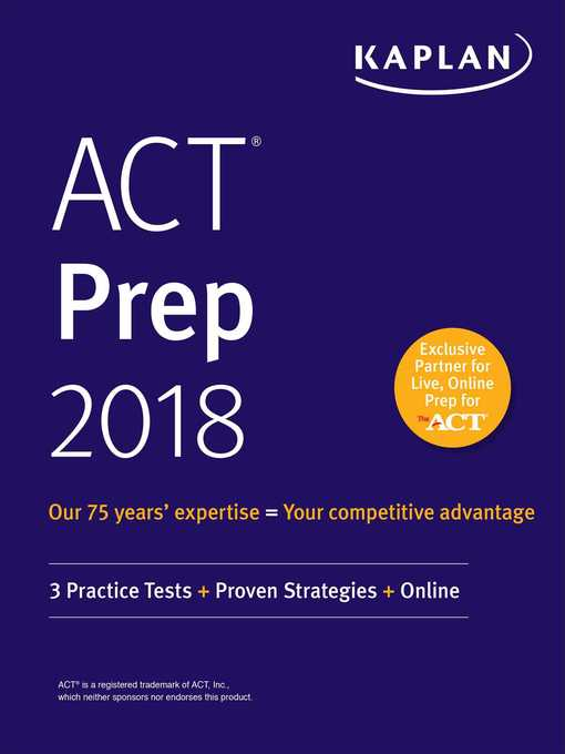 Cover of ACT Prep 2018