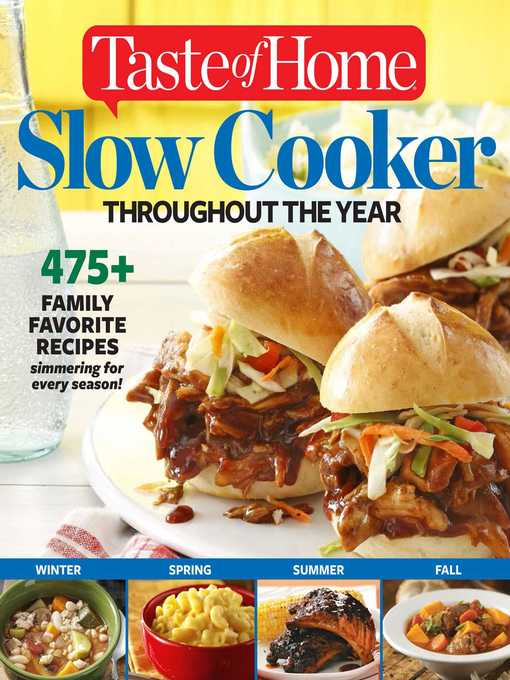 Title details for Taste of Home Slow Cooker Throughout the Year by Editors at Taste of Home - Available
