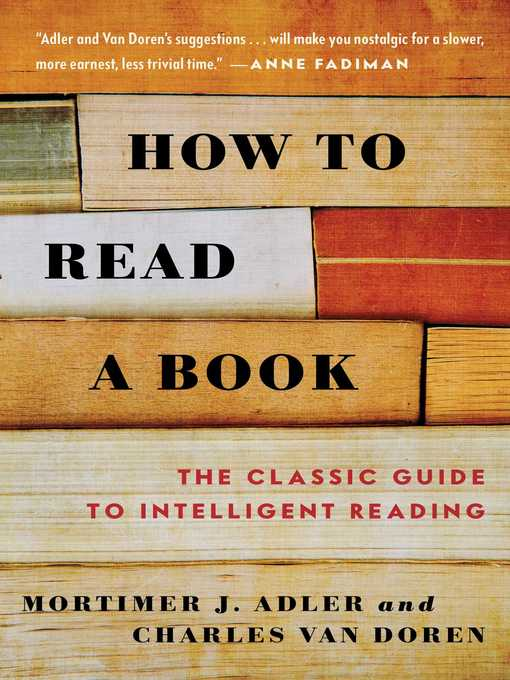 Title details for How to Read a Book by Mortimer J. Adler - Wait list