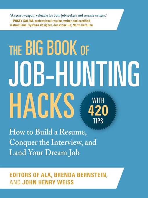 The big book of job-hunting hacks [electronic resource] : How to build a résumé, conquer the interview, and land your dream job.