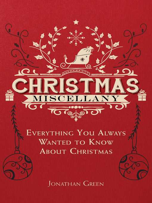 Title details for Christmas Miscellany by Jonathan Green - Available