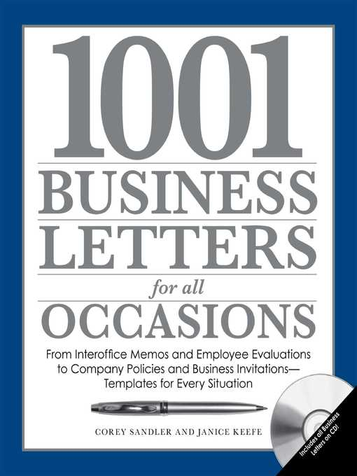 Title details for 1001 Business Letters for All Occasions by Corey Sandler - Available