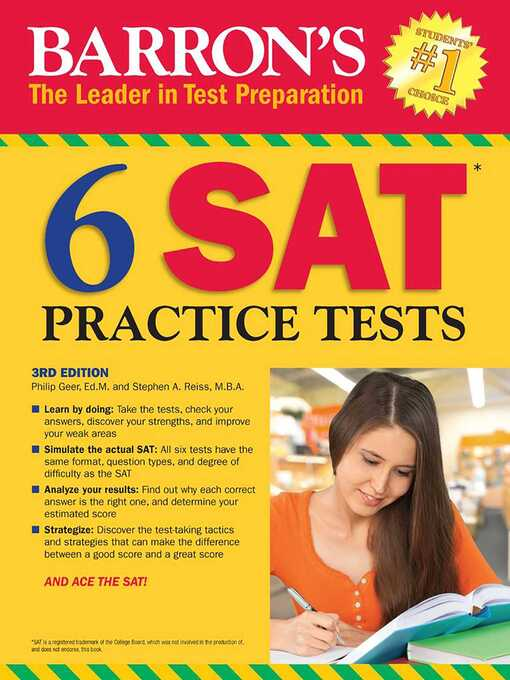 6 sat practice tests [electronic resource].