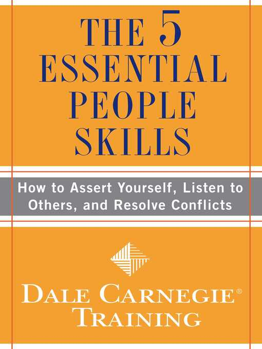Title details for The 5 Essential People Skills by Dale Carnegie Training - Wait list