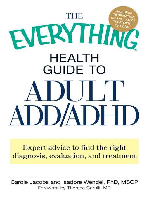 Title details for The Everything Health Guide to Adult ADD/ADHD by Carole  Jacobs -