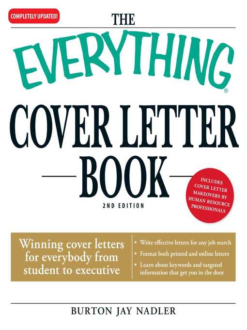Title details for The Everything Cover Letter Book by Burton Jay Nadler - Available
