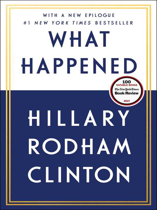 Title details for What Happened by Hillary Rodham Clinton - Wait list