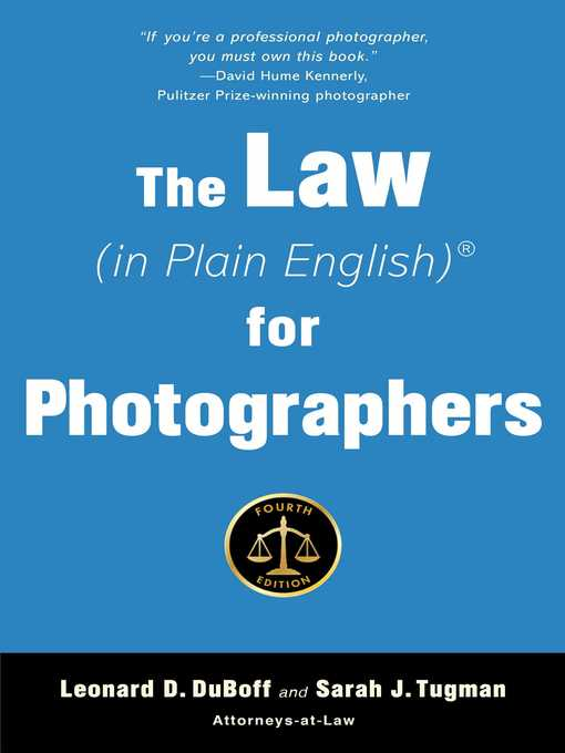 Title details for The Law (in Plain English) for Photographers by Leonard D. Duboff - Available