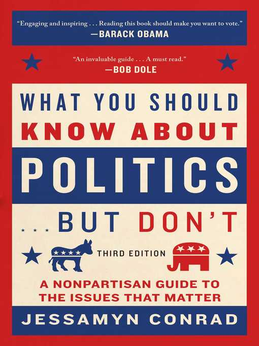 Title details for What You Should Know About Politics . . . But Don't by Jessamyn Conrad - Wait list
