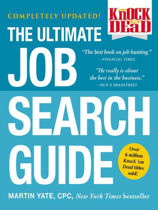 Title details for The Ultimate Job Search Guide by Martin Yate - Available