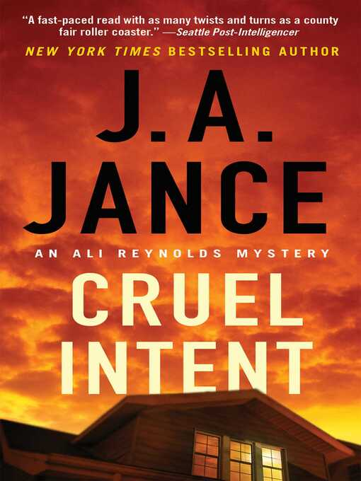 Title details for Cruel Intent by J.A. Jance - Available