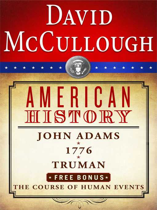 Title details for David McCullough American History E-book Box Set by David McCullough - Wait list