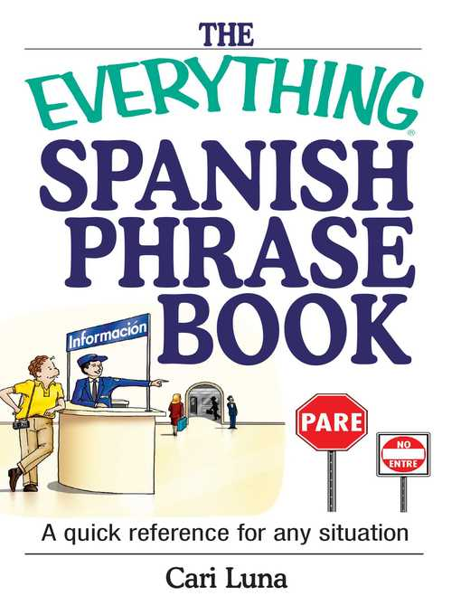 Title details for The Everything Spanish Phrase Book by Cari Luna - Wait list