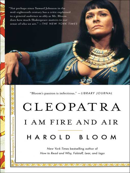 Title details for Cleopatra by Harold Bloom - Wait list