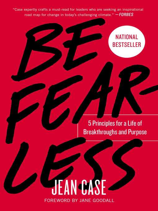 Title details for Be Fearless by Jean Case - Available