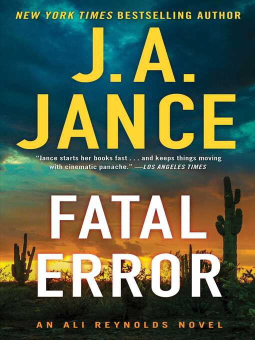 Title details for Fatal Error by J.A. Jance - Available