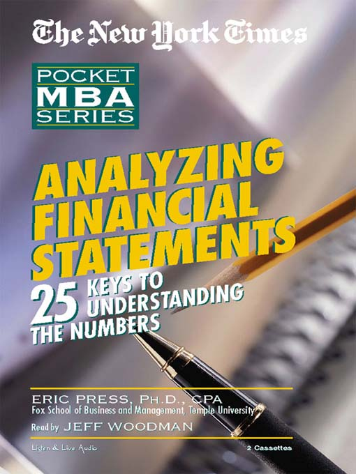 Title details for Analyzing Financial Statements by Eric Press - Available