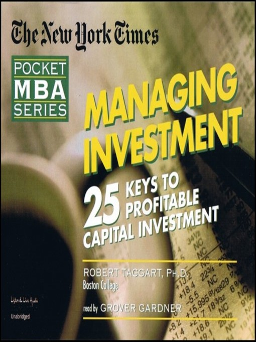 Title details for Managing Investments by Robert Taggart, Ph.D. - Available