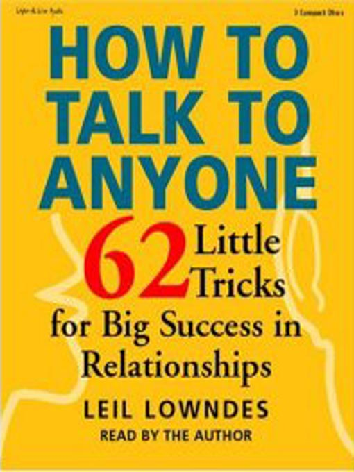 Title details for How to Talk to Anyone by Leil Lowndes - Wait list