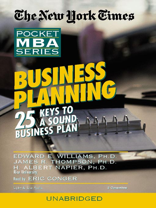 Title details for Business Planning by Edward E. Williams - Wait list