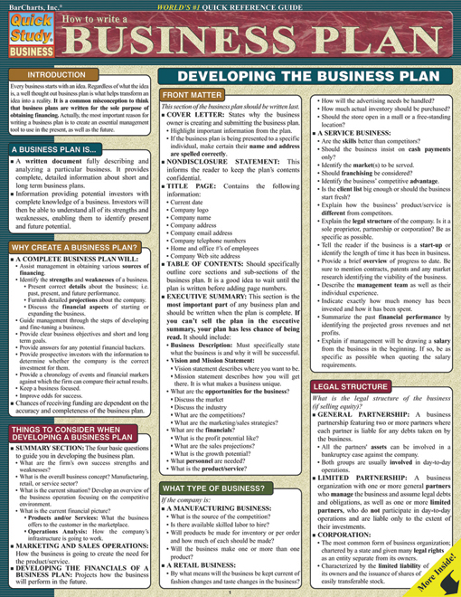 Cover of How to Write A Business Plan