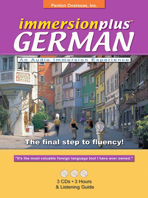 Title details for Immersionplus<sup>TM</sup> German by Penton Overseas, Inc. - Available