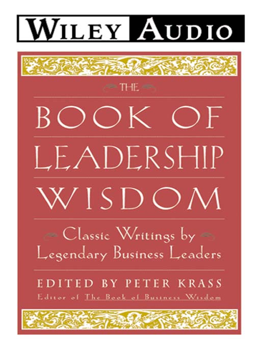 Title details for The Book of Leadership Wisdom by Peter Krass - Wait list