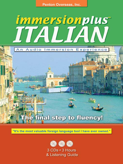 Title details for Immersionplus<sup>TM</sup> Italian by Penton Overseas, Inc. - Available