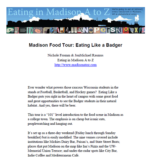 Title details for Madison Food Tour: Eating Like a Badger by Nichole Fromm - Available