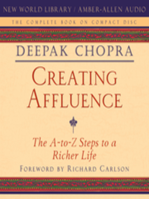 deepak chopra a to z steps creating affluence pdf
