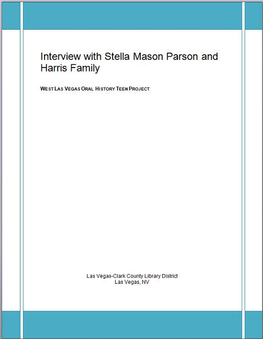 Title details for Stella Parson and Harris Family by Las Vegas - Clark County Library District - Wait list