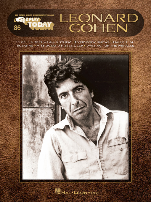 Title details for Leonard Cohen by Leonard Cohen - Wait list
