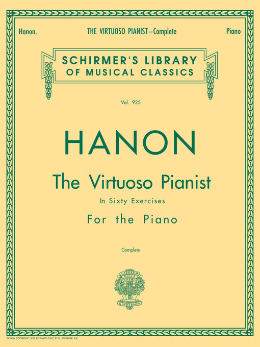Title details for Hanon--Virtuoso Pianist in 60 Exercises--Complete by C.L. Hanon - Available